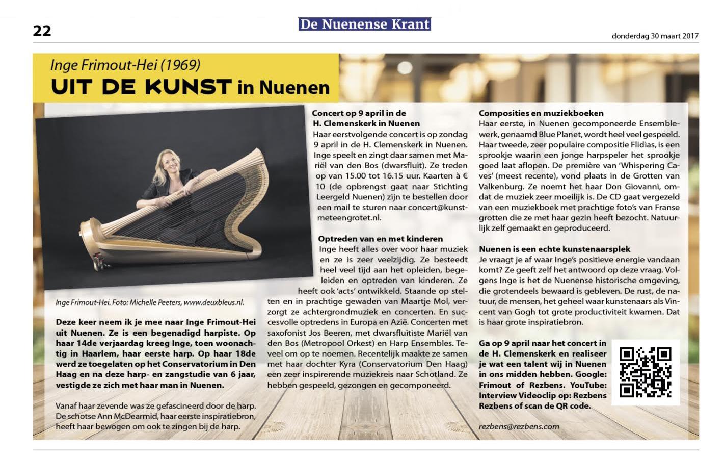 Harpiste Inge Fromout-Hei
